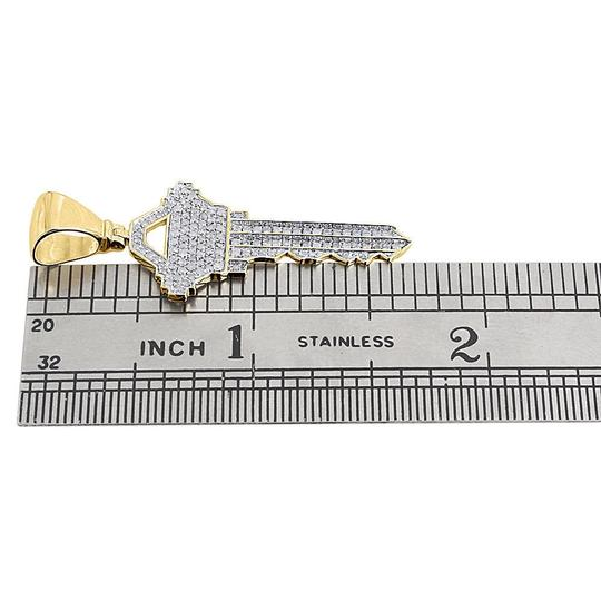 Jewelry For Less 10K Yellow Gold Mens Diamond Pendant The Key To The City Charm 0.60 Ct Image 3