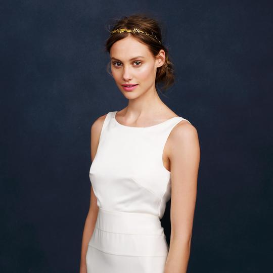 J.Crew Ivory Percy Modern Wedding Dress Size 8 (M)