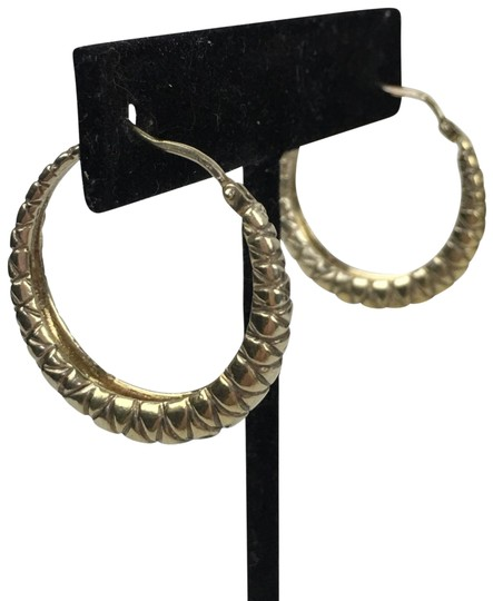 Bottega Veneta BOTTEGA VENETA Oxidized Gold Woven Hoop Earrings Image 0
