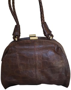 Kenneth Cole Leather Multi-compartments Satchel in Brown