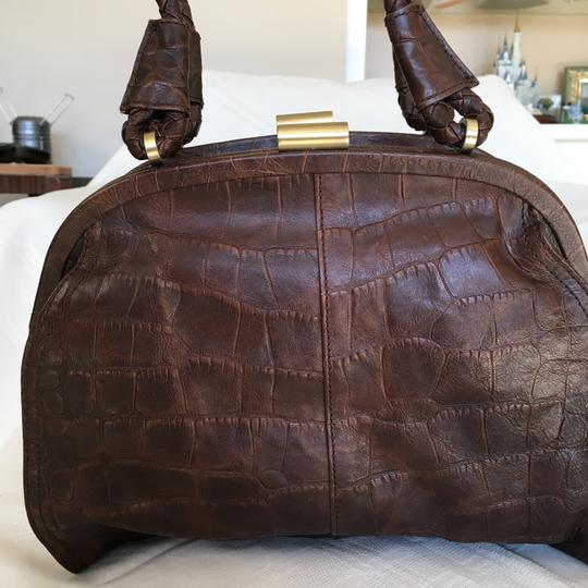 Kenneth Cole Leather Multi-compartments Satchel in Brown Image 1