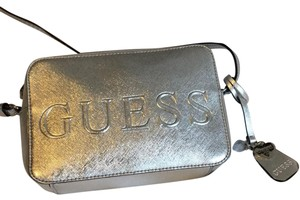 Guess Metallic Shiny Logo Hardware Cross Body Bag