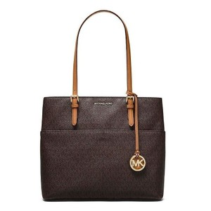 6f922dc63d98 Michael Kors Tech Laptop Shoulder Luggage Monogram Tote in Brown