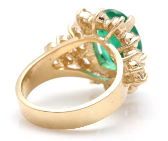 Other 5.70Ct Natural Emerald & Diamond 14K Solid Yellow Gold Ring Image 3