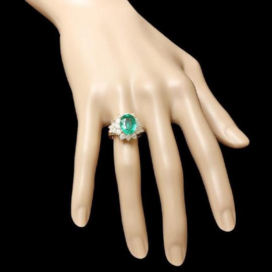 Other 5.70Ct Natural Emerald & Diamond 14K Solid Yellow Gold Ring Image 4