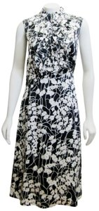 Tory Burch Floral Silk Print Ruffled Dress
