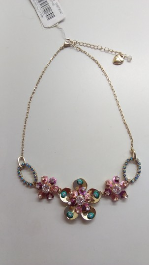 Betsey Johnson Betsey Johnson New Rhinestone Flower Necklace and Earrings Image 1