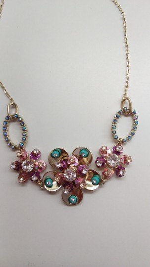 Betsey Johnson Betsey Johnson New Rhinestone Flower Necklace and Earrings Image 2