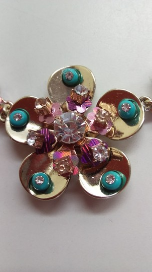 Betsey Johnson Betsey Johnson New Rhinestone Flower Necklace and Earrings Image 3
