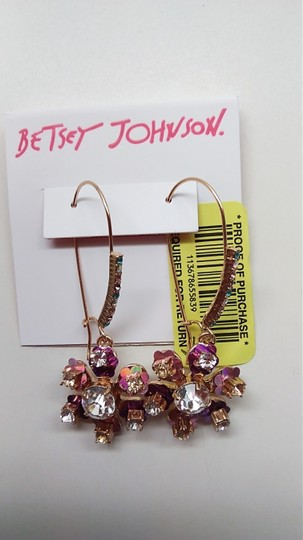 Betsey Johnson Betsey Johnson New Rhinestone Flower Necklace and Earrings Image 6