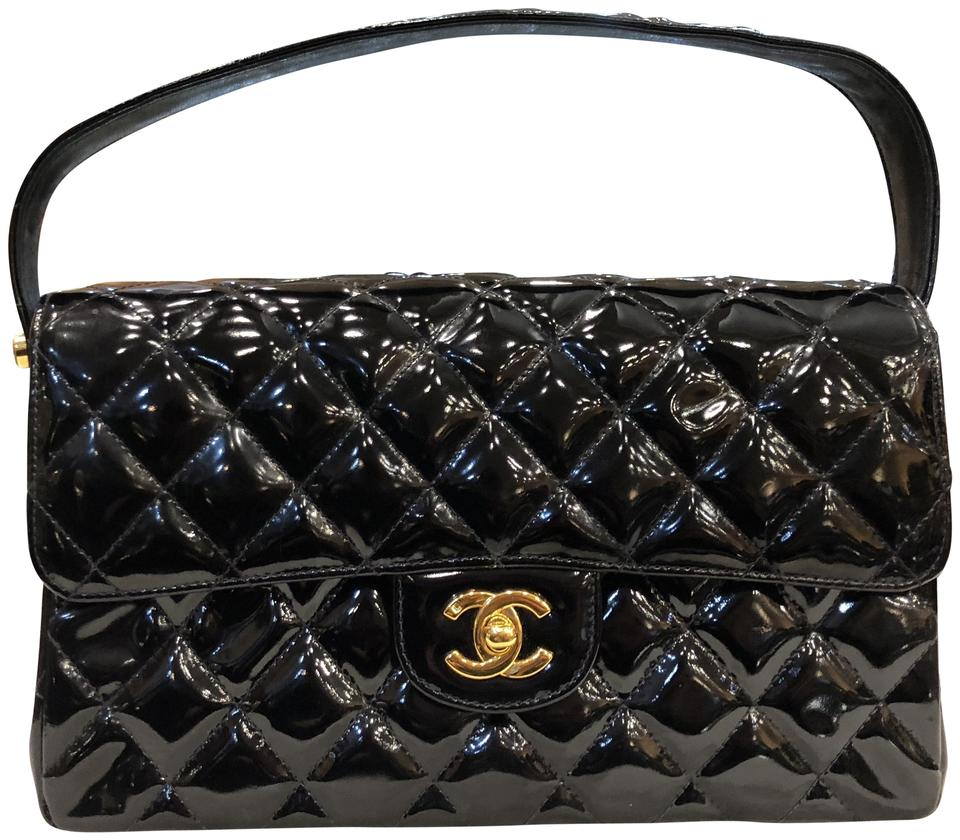d2d90424664e Chanel Classic Flap Double Twin Sided Quilted Gold Hardware Black ...