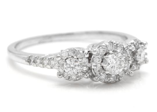 Other 0.85 Carats Natural Diamond 14K Solid White Gold Band Ring Image 1