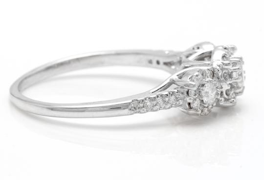 Other 0.85 Carats Natural Diamond 14K Solid White Gold Band Ring Image 2