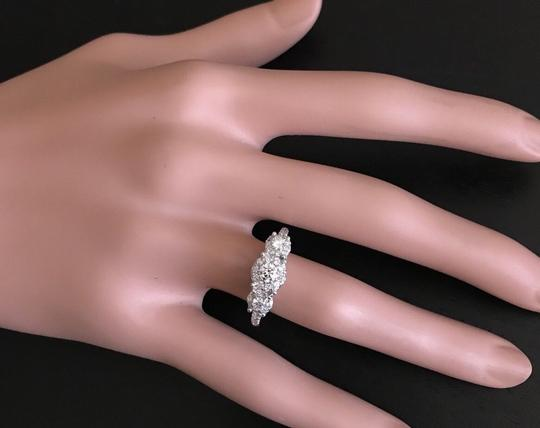 Other 0.85 Carats Natural Diamond 14K Solid White Gold Band Ring Image 4