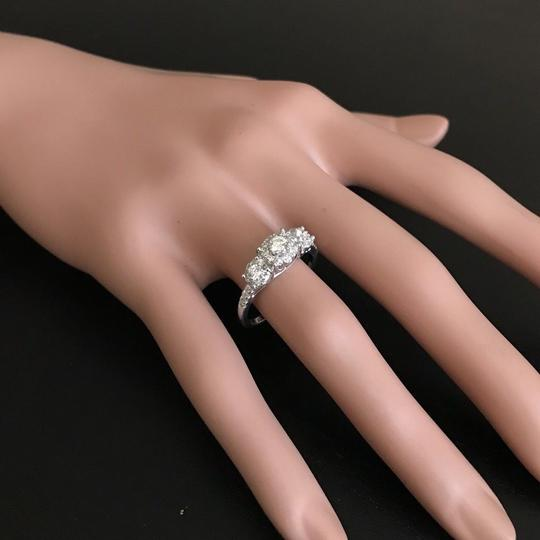 Other 0.85 Carats Natural Diamond 14K Solid White Gold Band Ring Image 6