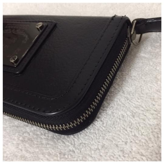 Burberry Authentic Burberry Black Leather Classic Long Zipper Wallet Image 3