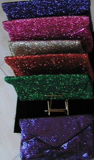 PurseN Evening After Five Party Formal Special Occasion Silver Clutch Image 1