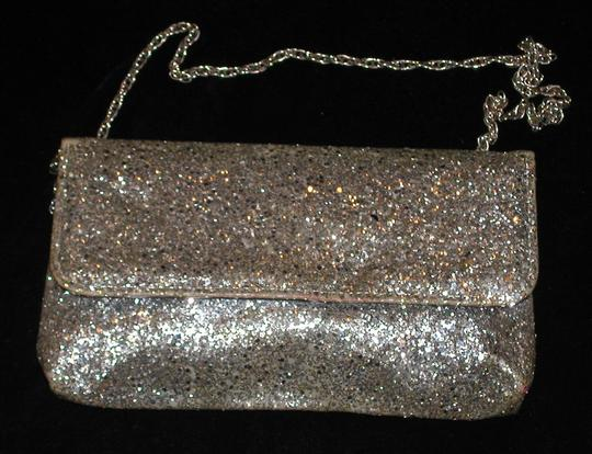 PurseN Evening After Five Party Formal Special Occasion Silver Clutch Image 2