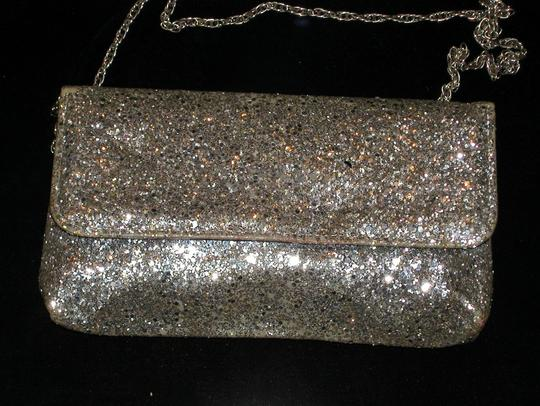 PurseN Evening After Five Party Formal Special Occasion Silver Clutch Image 4
