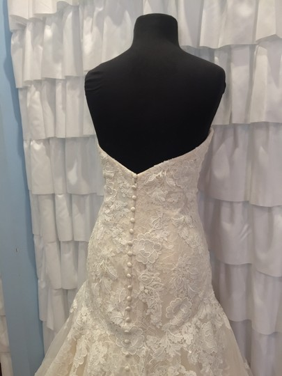 Allure Bridals Ivory/Gold Lace 9314 Traditional Wedding Dress Size 18 (XL, Plus 0x) Image 1