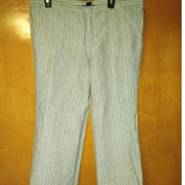 Victoria's Secret Linen/Cotton Striped Pants Size 8 (M, 29, 30) Victoria's Secret Linen/Cotton Striped Pants Size 8 (M, 29, 30) Image 1
