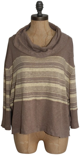 Preload https://img-static.tradesy.com/item/22935964/free-people-beige-cream-we-the-cowl-neck-striped-slouchy-blouse-size-8-m-0-1-650-650.jpg
