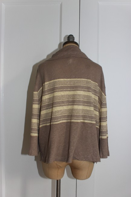 Free People We The Cowl Neck Slouchy Vince Top BEIGE CREAM Image 1