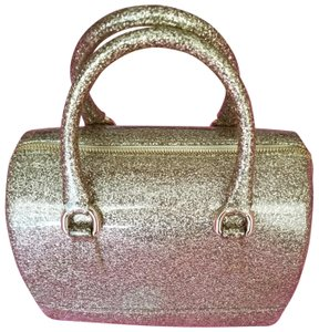Furla Candy Cookie Satchel in Gold