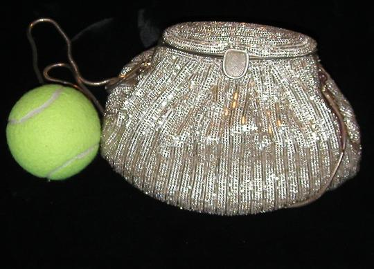 PurseN Evening After Five Party Formal Special Occasion Antique Silver Clutch Image 2