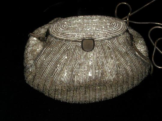 PurseN Evening After Five Party Formal Special Occasion Antique Silver Clutch Image 5