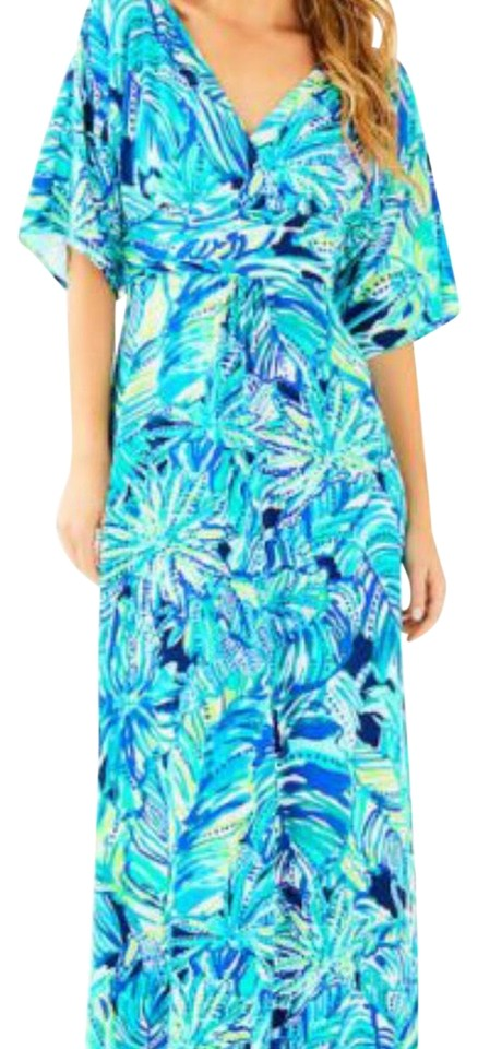 40423992ee0aeb Lilly Pulitzer Bright Navy Armadilly Dally Parigi Long Casual Maxi ...