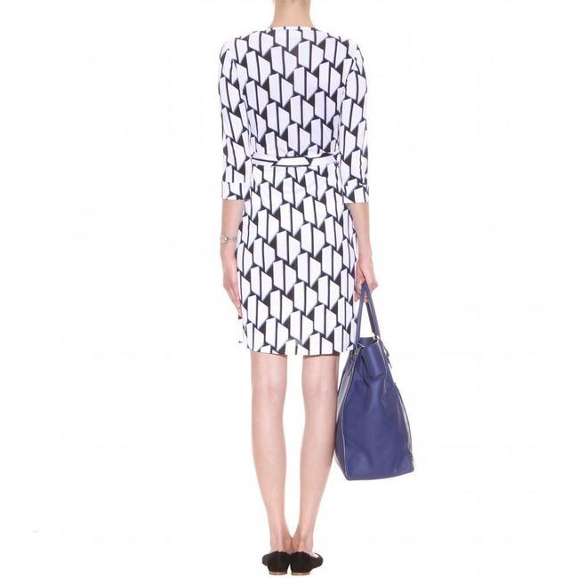 Blue/White/Black Maxi Dress by Diane von Furstenberg Dvf Wrap Silk Julian Jersey Image 2