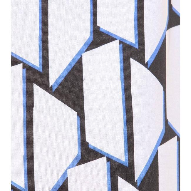 Blue/White/Black Maxi Dress by Diane von Furstenberg Dvf Wrap Silk Julian Jersey Image 4