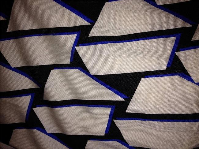 Blue/White/Black Maxi Dress by Diane von Furstenberg Dvf Wrap Silk Julian Jersey Image 5