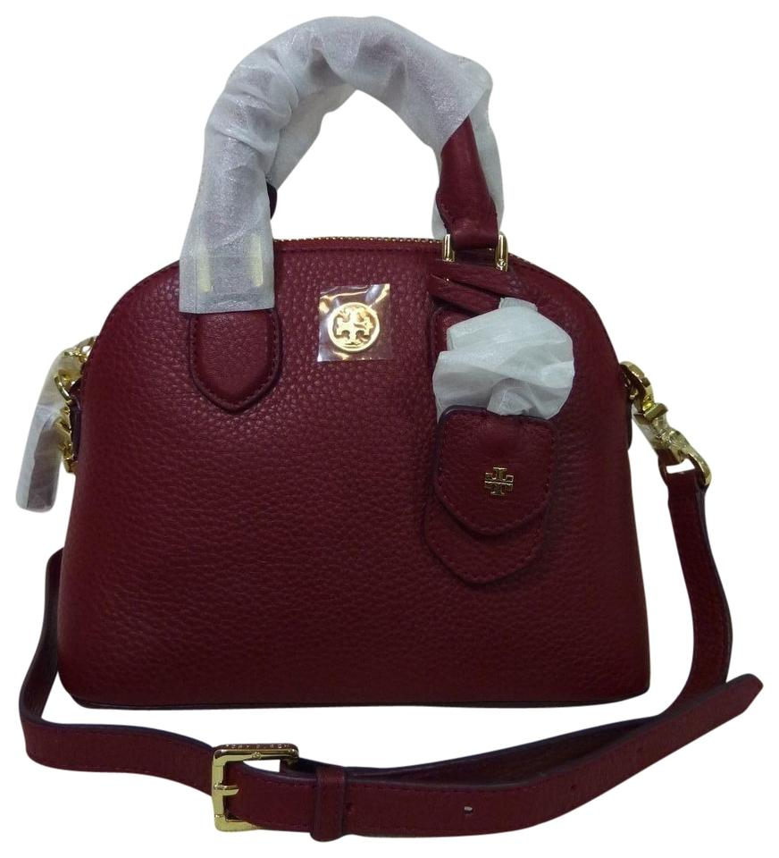 d8050809811 Tory Burch Robinson Mini Dome Red Pebbled Leather Cross Body Bag ...