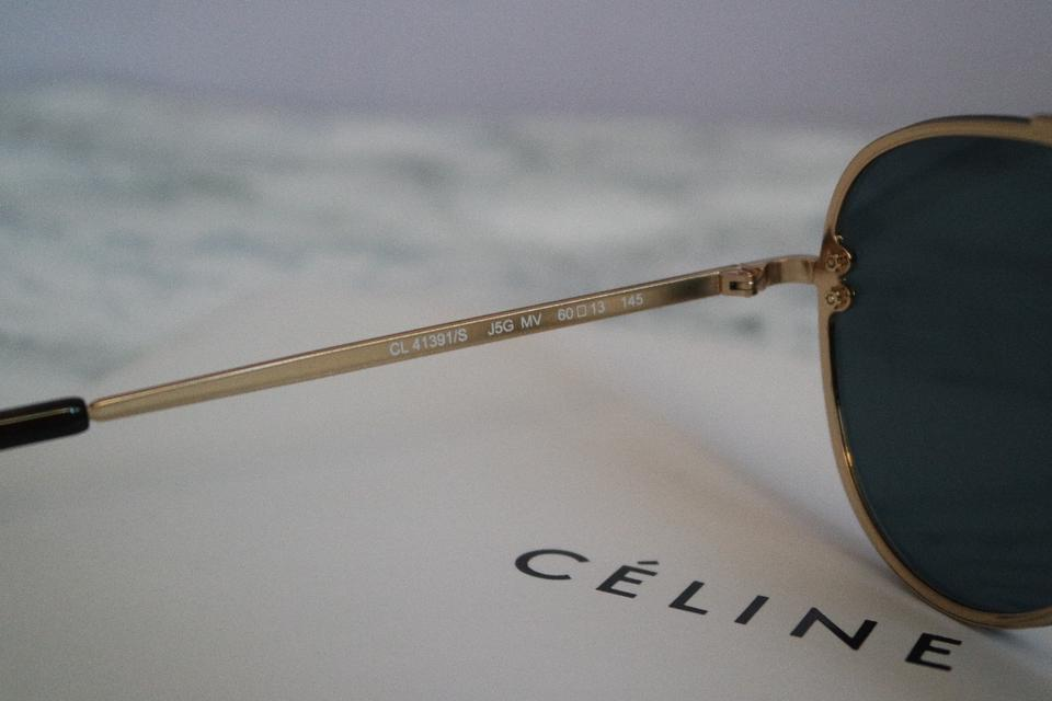 b4aa9afc19474 Céline Gold Sale New 41391s 41391 S Mirrored Aviator Sunglasses - Tradesy