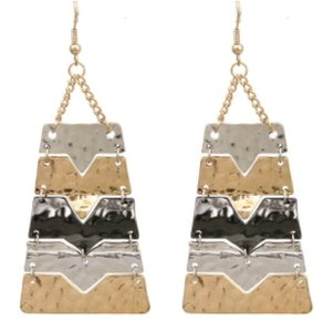 JEWELRYMAKEOVERPARTY Silver Gold Hematite Multi-Color Earrings