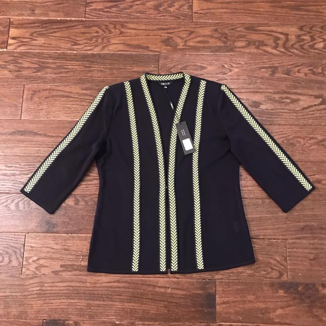 Misook Navy/Chartreuse Jacket Image 2