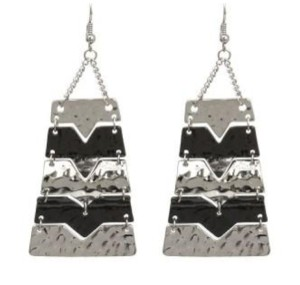JEWELRYMAKEOVERPARTY Silver Hematite Multi-Color Earrings