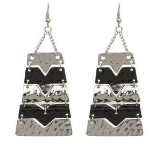 JEWELRYMAKEOVERPARTY Silver Hematite Multi-Color Earrings Image 1