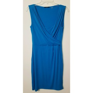 Tahari short dress Blue on Tradesy