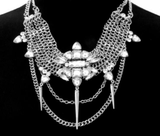 Other Modern Edge All Spiked Out Classic Rhinestone Necklace Image 1