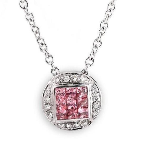 Preload https://img-static.tradesy.com/item/22936507/068-ct-natural-pink-sapphire-010-ct-diamonds-14k-gold-round-necklace-0-0-540-540.jpg