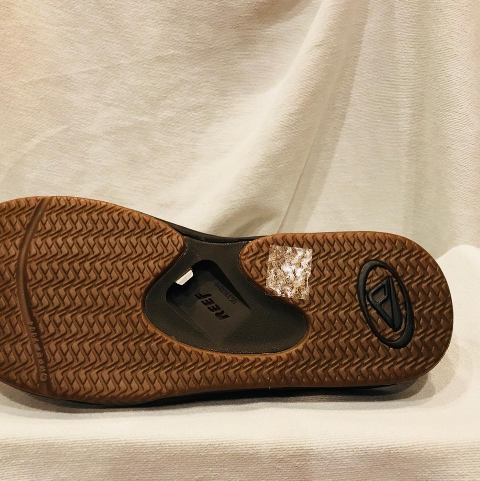 5c40f1bf680 Reef Brown Fanning Leather Thong Sandals  new . Size  US 11 Regular (M ...