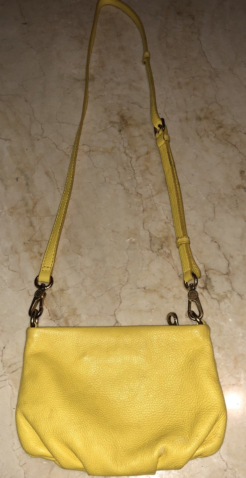 09935222becd Marc by Marc Jacobs Classic Q Percy Grapefruit Zest Yellow Cowhide ...