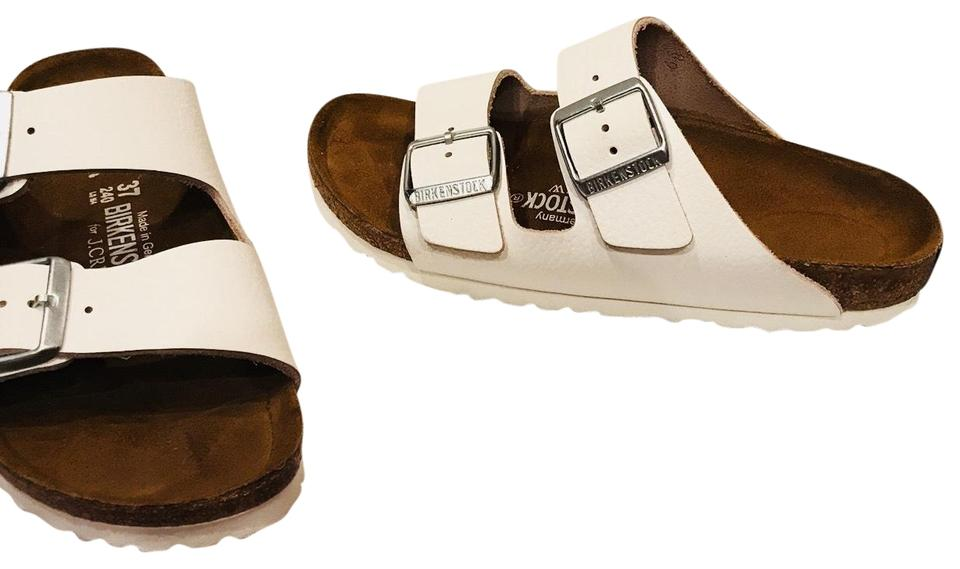 Birkenstock White For Sandals J Crew Leather 37/L6 Sandals For d1b3d4