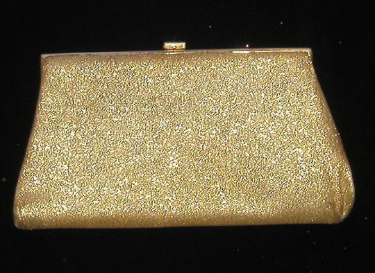 PurseN Evening After Five Party Formal Special Occasion Gold Clutch Image 1