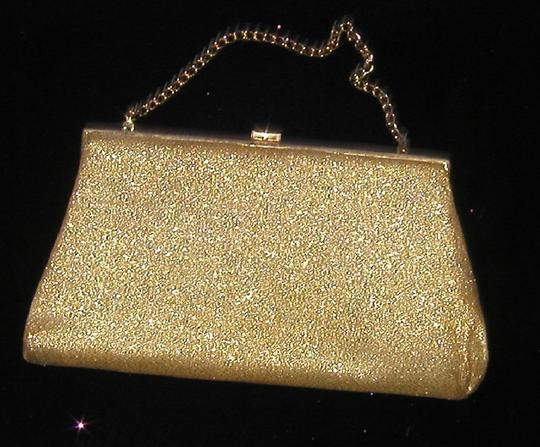 PurseN Evening After Five Party Formal Special Occasion Gold Clutch Image 2
