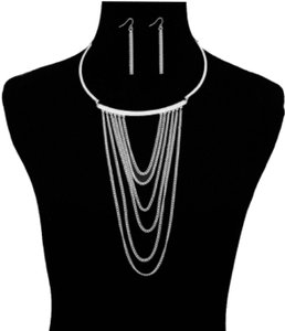 JEWELRYMAKEOVERPARTY Cascading Chains Choker Necklace with Rhinestone Accents