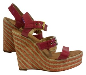 Kate Spade Pink/Orange Wedges